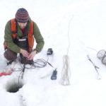 Winter sampling in Fish Creek Estuary