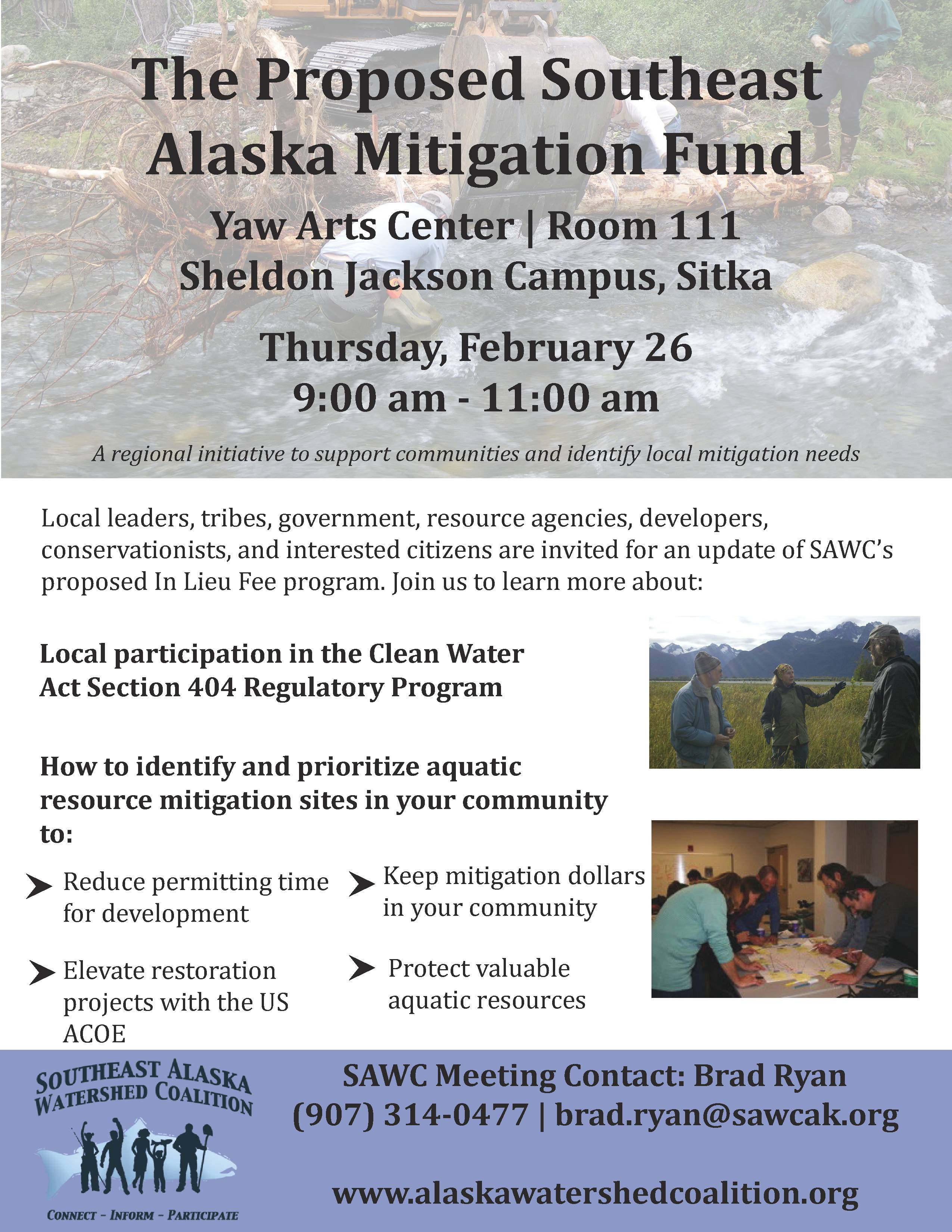 Southeast Alaska Mitigation Fund Community Meeting: Sitka!
