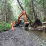 Work Starts for the Pat Creek Fish Habitat Enhancement Project